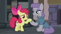 Apple Bloom petting Boulder S5E20