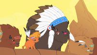 Buffalos getting ready to attack S1E21