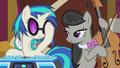 DJ Pon-3 straightening her sunglasses S5E9.png