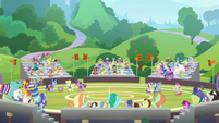 Entire stadium cheers for School of Magic S9E15