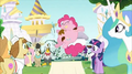 Everypony staring at Pinkie Pie S2E24.png