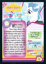 Fancy Pants Enterplay series 2 trading card back