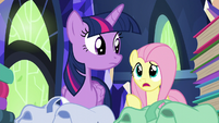"Fluttershy ""you said 'books' twice"" S5E23"