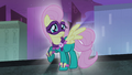 Fluttershy as Saddle Rager S4E06.png