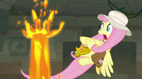 Lava geyser appears next to Fluttershy S9E21