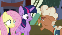 Ma Hooffield asks who Twilight and Fluttershy are S5E23
