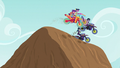 Motocrossers on top of a mound EG3.png