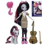 Octavia Melody Equestria Girls Rainbow Rocks doll and pony set