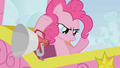 Pinkie Pie looking down at the racers S1E13.png