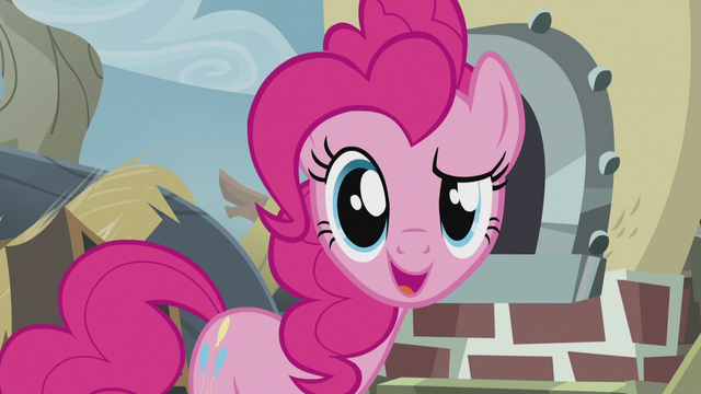 "File:Pinkie faces the fourth wall ""except it does!"" S5E8.png"