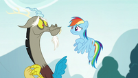Rainbow and Discord cracking up S5E22