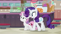 Rarity -excited to be back here- S7E6