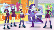 Rarity doing a street ballet pose EGS1