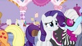 Rarity looking distressed; Applejack walks away S7E9.png