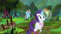 Rarity picking some mint leaves S8E17