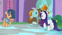 Rarity watching Rockhoof leave the school S8E21