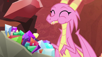 Scales happily eating gems S8E16