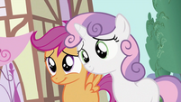 Scootaloo and Sweetie Belle smiles S2E06
