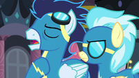 Soarin -if you can prove that somepony else is behind Spitfire's disappearance- S5E15