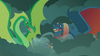 Torch and green dragon menace the Legion S7E16