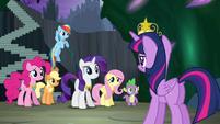 Twilight's friends in shock S4E02