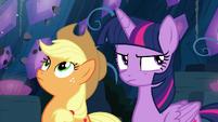 Twilight and AJ have a bad feeling S9E1