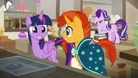 Twilight and Sunburst having fun together S7E24
