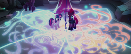 Twilight and Tempest surrounded by energy MLPTM