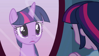 Twilight pony in the mirror EG