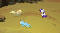 Applejack, Rainbow and Rarity freed S4E26