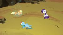 Applejack, Rainbow and Rarity freed S4E26