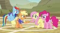 Applejack --sucked the fun right out of the game-- S6E18
