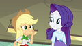 Applejack wondering about Rainbow Dash EG.png