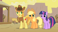 Braeburn Applejack and Twi S01E21