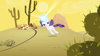 Filly Rarity dragged through desert S1E23
