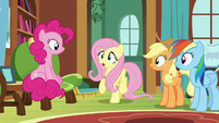 "Fluttershy ""her vet clinic is a bit"" S7E5"
