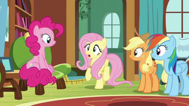 "File:Fluttershy ""her vet clinic is a bit"" S7E5.png"