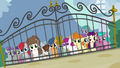 Foals outside Diamond Tiara's front gate S4E15.png