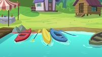 Kayaking area at Cutie Mark Day Camp S7E21