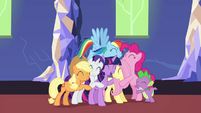 Mane 6 and Spike group hug S4E26