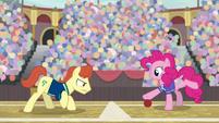 Pinkie Pie vs. unnamed buckball player S9E6