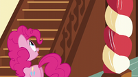 Pinkie looks up the stairs S5E19