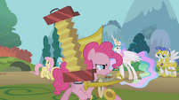 Pinkie passes by surprised Celestia S1E10
