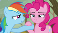 Pinkie puts down Rainbow's hoof S5E5.png