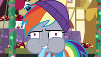 Rainbow Dash's face starts to turn red BGES1