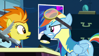 Rainbow Dash strongly disagrees with Spitfire S3E07