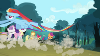 Rainbow dropping the logs S3E6
