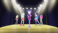 Rarity and friends on the runway EG2.png