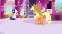 Rarity clapping her hooves with delight S7E9