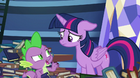 Spike -of all ponies, I can't believe- S8E24